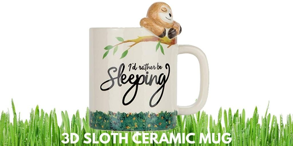 I Would Rather Be Sleeping Lazy Sloth 3D Sloth Ceramic Mug Twitter