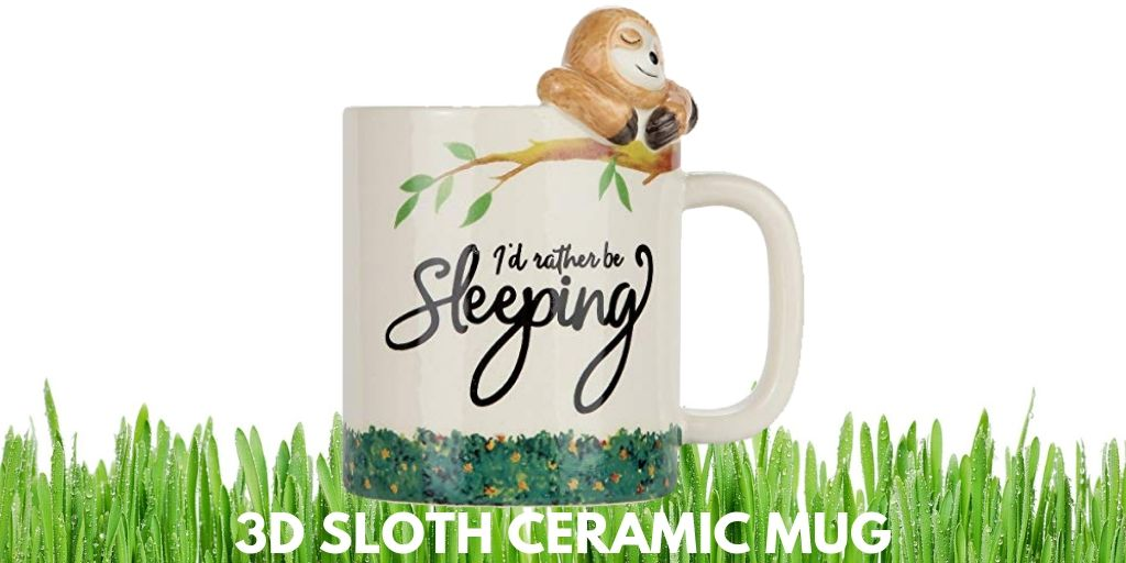 I Would Rather Be Sleeping Lazy Sloth 3D Sloth Ceramic Mug Twitter