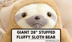 New 28 Inch Stuffed Fluffy Sloth Teddie Giant Animal