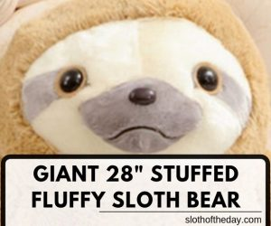 New 28 Inch Stuffed Fluffy Sloth Giant Animal