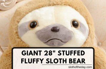 New 28 Inch Stuffed Fluffy Sloth Teddie Giant Animal