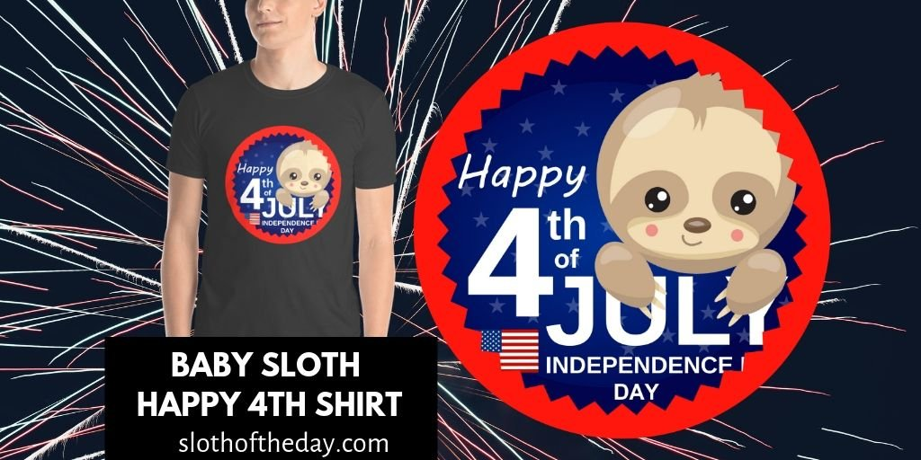 Baby Sloth 4th of July Shirt