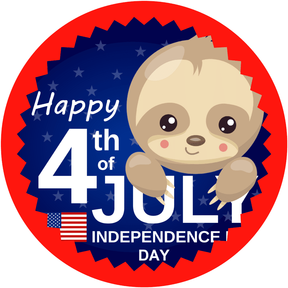Baby Sloth 4th of July T-Shirt