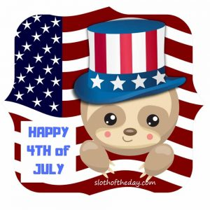 Baby Sloth Uncle Sam Happy 4th of July Shirt Small