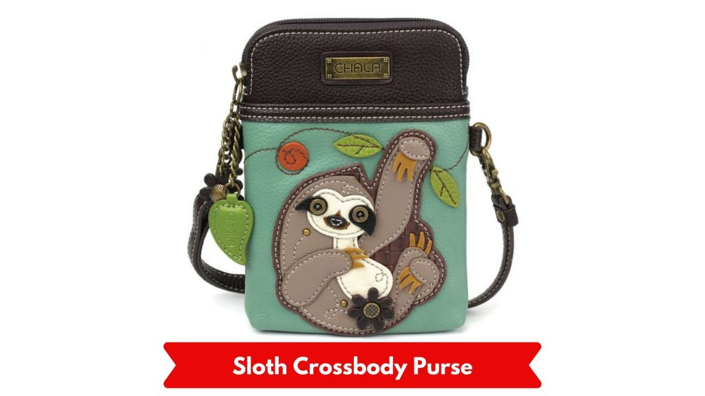Chala Cross Body Sloth Cell Phone Purse
