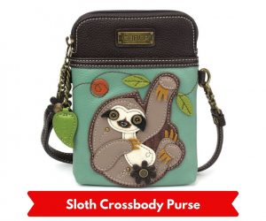 Chala CrossBody Sloth Cell Phone Purse