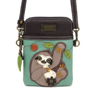 Chala Cross Body Sloth Cell Phone Purse Small