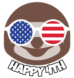 Cool-Sloth-Happy-Fourth-of-July