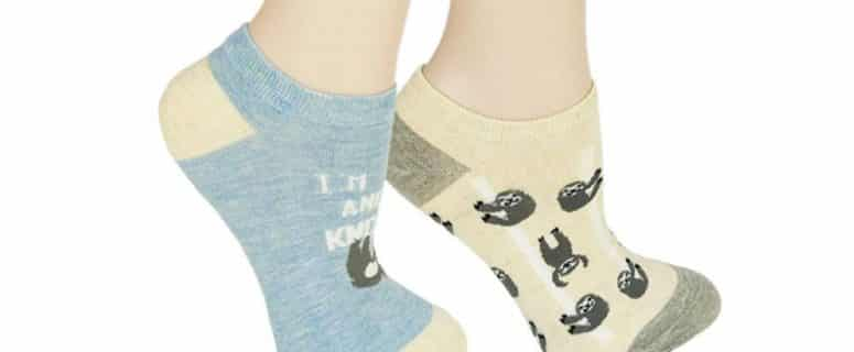 Funny Cute Sloth Ankle Socks 2 Pack Women Gifts