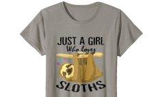 Just A Girl Who Loves Sloths Tshirt Lovers Awesome Women Gifts
