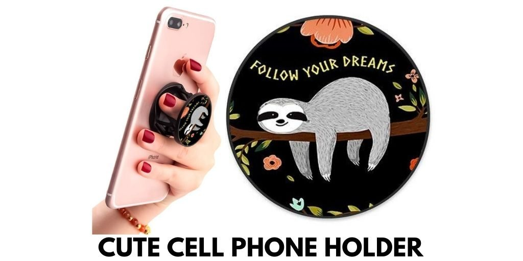 Multi-Functional Cute Sloth Cell Phone Holder Twitter