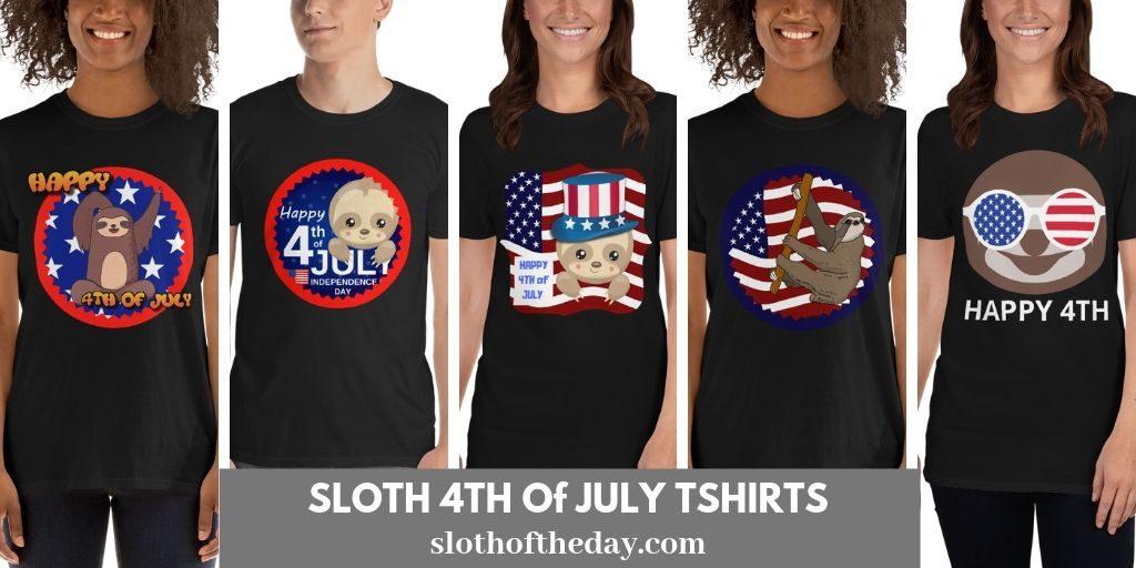 Sloth 4th of July T-shirts