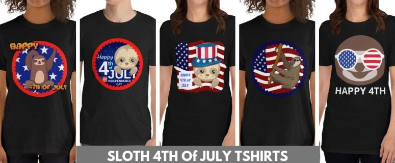 Sloth 4th of July T-shirts