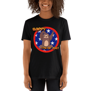 Sloth-Happy-4th-of-July-T-shirt_mockup_Front_Womens-2_Black