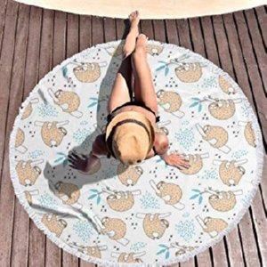 big round sloth blanket