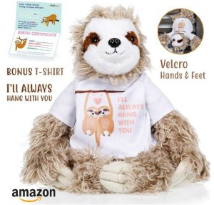 I Will Always Hang With You Sloth Plush Toy