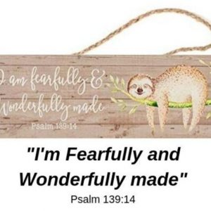 10 x 3 Inch Pine Wood Sloth Hanging Wall Sign Sloth Decor Feature 2