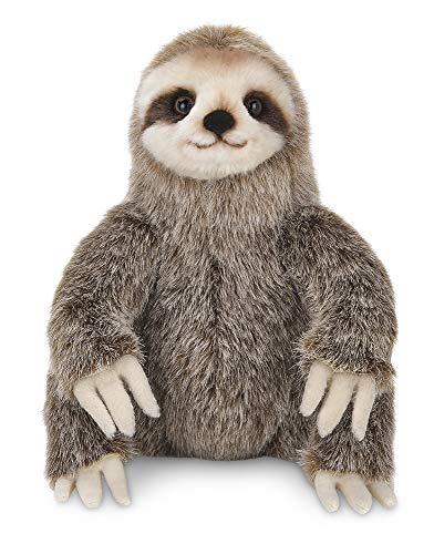 Quality Made 10 Inch Three-Toed Sloth Animal Toy Stuffed 3