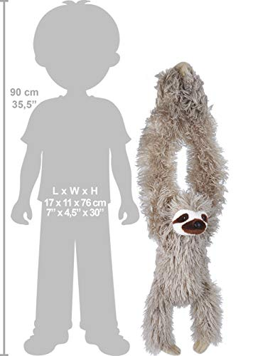 30 Inch Hanging Three-Toed Sloth Stuffed Animal Plush Toy 5