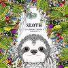 58 Page Animal Adorable Coloring Sloth Books for Adults 1