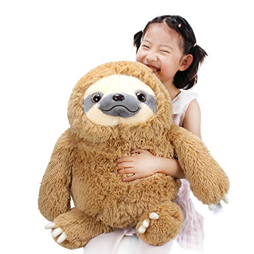 HUGE 19.7-inch Fluffy Sloth Stuffed Animal Toy Gift for Kids 1
