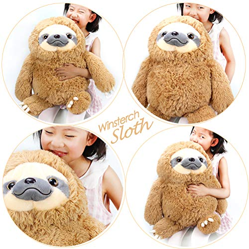 HUGE 19.7-inch Fluffy Sloth Stuffed Animal Toy Gift for Kids 2