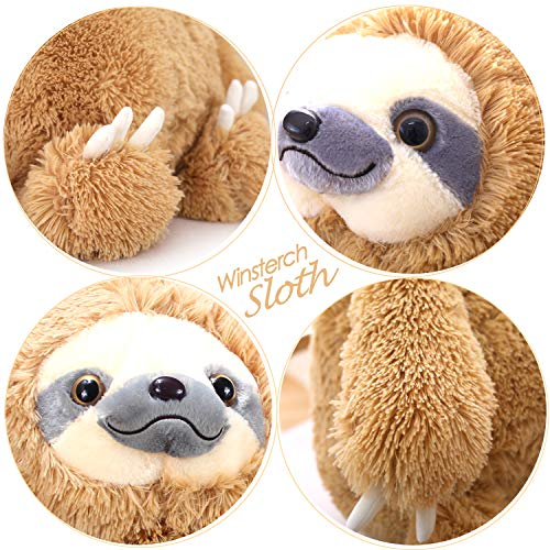 HUGE 19.7-inch Fluffy Sloth Stuffed Animal Toy Gift for Kids 3