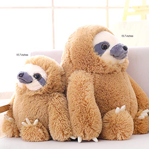 HUGE 19.7-inch Fluffy Sloth Stuffed Animal Toy Gift for Kids 4