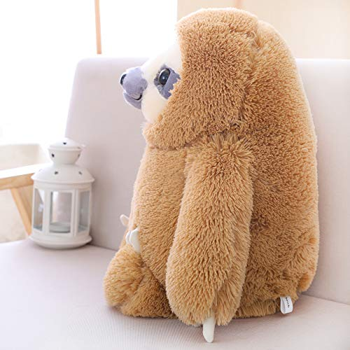 HUGE 19.7-inch Fluffy Sloth Stuffed Animal Toy Gift for Kids 5