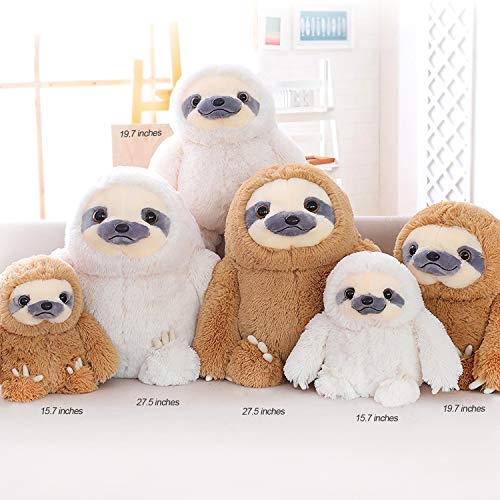 HUGE 19.7-inch Fluffy Sloth Stuffed Animal Toy Gift for Kids 6