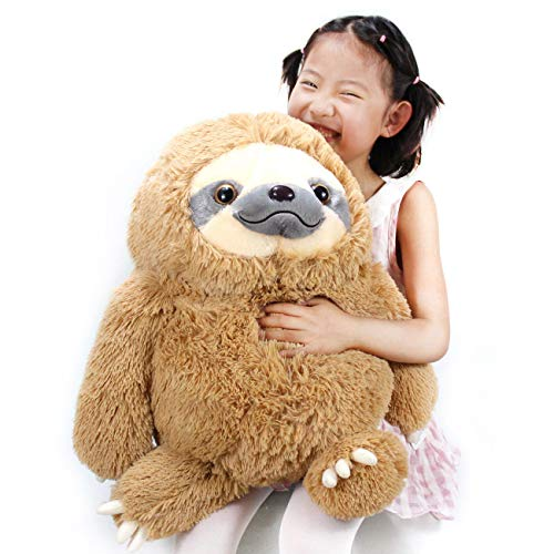 HUGE 19.7-inch Fluffy Sloth Stuffed Animal Toy Gift for Kids 7