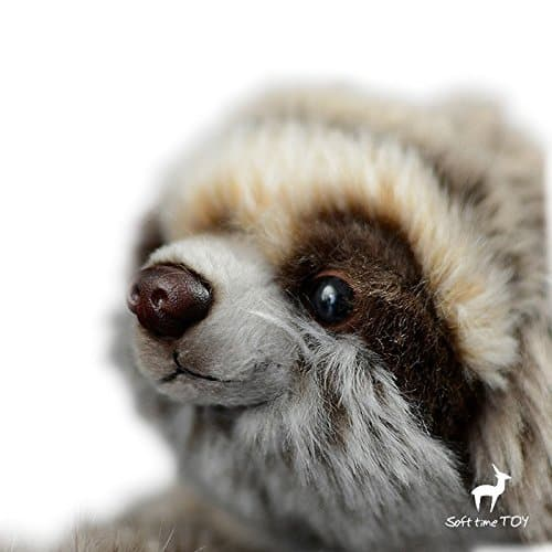 12.5 inch Realistic Looking Sloth Toy Three-Toed Sloth 1