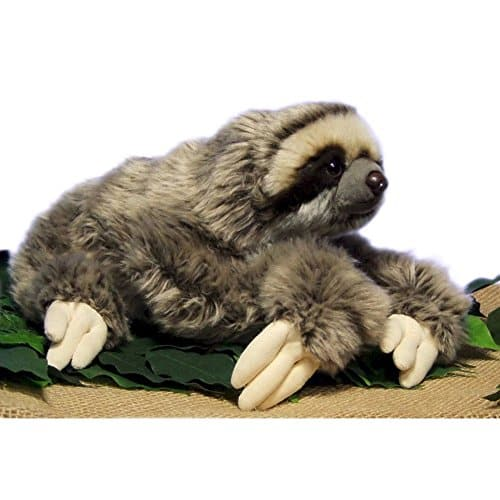 12.5 inch Realistic Looking Sloth Toy Three-Toed Sloth 3