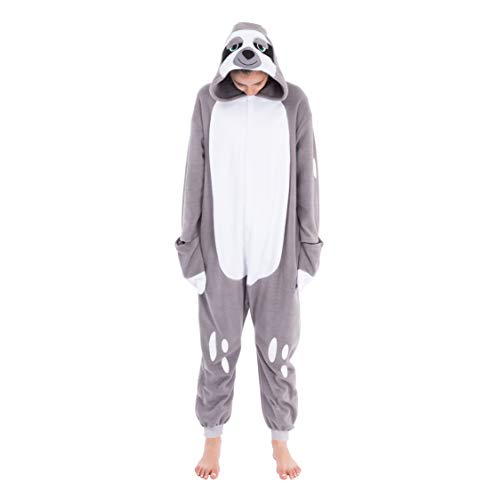 Cool Costume Onesie Sloth Unisex Pajamas Plush Adult Size 1