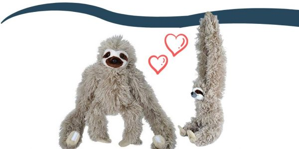 30 Inch Hanging Three-Toed Sloth Stuffed Animal Plush Toy