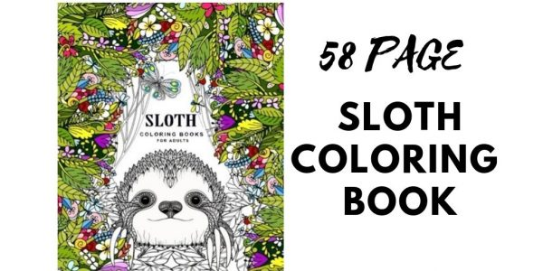 58 Page Sloth Coloring Book