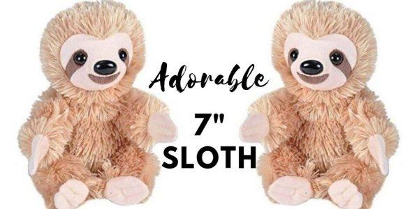 7 Inch Simply Adorable Sloth Plush Stuffed Animal Toy Social