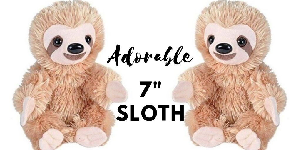 7 Inch Simply Adorable Sloth Plush Stuffed Animal Toy Social