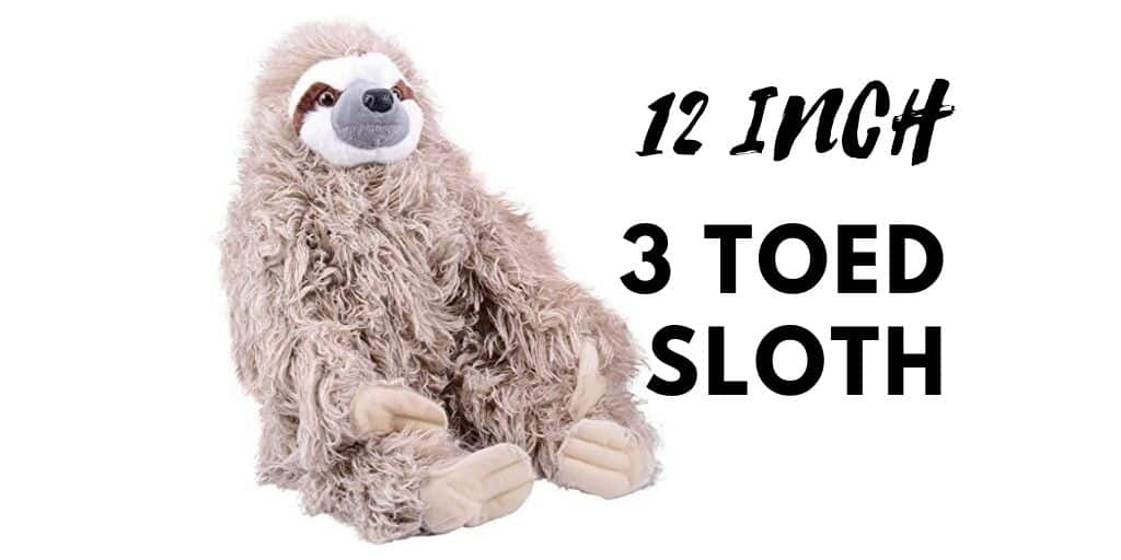 Amazingly Cool Looking 12 Inch Three-Toed Sloth Stuffed Doll