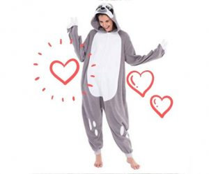 Cool Costume Onesie Sloth Unisex Pajamas Plush Adult Size
