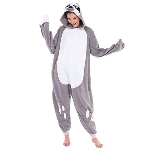 Cool Costume Onesie Sloth Unisex Pajamas Plush Adult Size