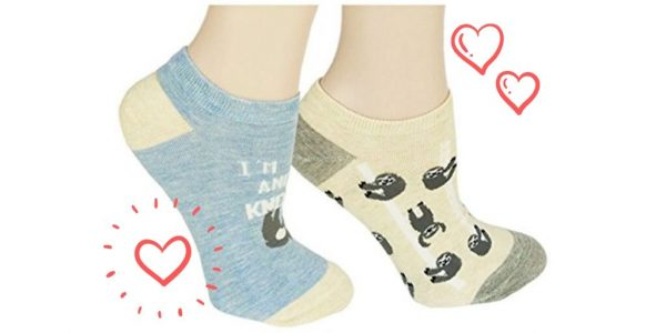Funny Cute Sloth Ankle Socks 2 Pack Women Girls Sloth Gifts