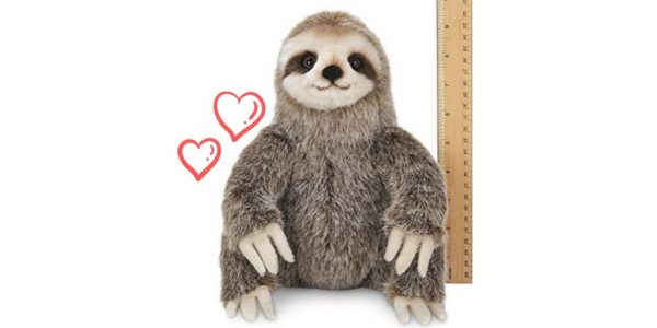 Quality Made 10 Inch Three-Toed Sloth Animal Toy Stuffed