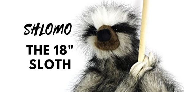 Shlomo the 18 Inch Super Realistic Large Sloth Stuffed Toy