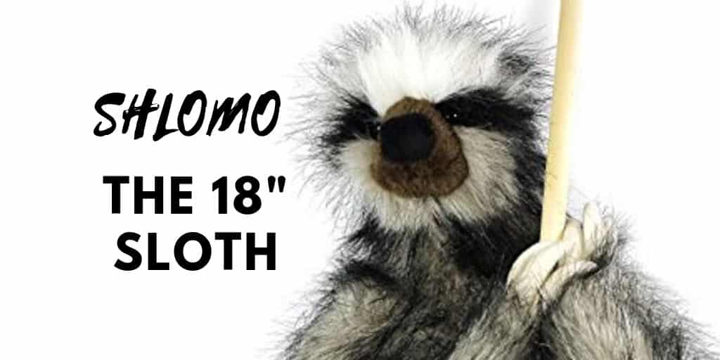 Shlomo the 18 Inch Super Realistic Large Sloth Stuffed Toy