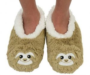 1 Pair of Super Cute Fluffy Sloth Slipper Socks Shoes