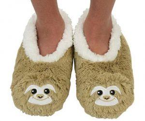 1 Pair of Super Cute Fluffy Sloth Slipper Socks Shoes