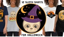 12 Cool Unique Sloth Halloween T-Shirt For Sloth Lovers 2