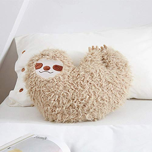 16 Inch Cool Sloth Comfy Pillow Sloth Face Smiling Solo