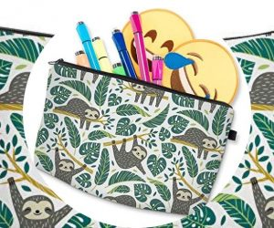 Adorable 3D Sloth Travel Pouch Makeup Organizer